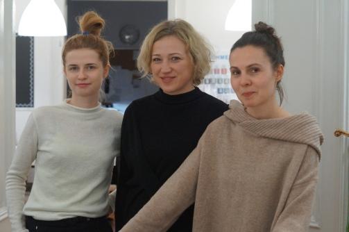 Projektanki Anna Michalik (po prawej) i Aleksandra Bloch (po lewej), w środku Anna Joniak założycielka Szkoły Forma